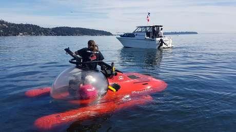 A exploração foi realizada em submarinos como esse