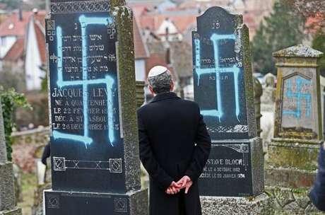 Memorial judeu é vandalizado em Estrasburgo