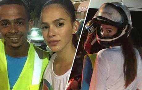 Motoboy leva Bruna Marquezine para casa e tira onda na web