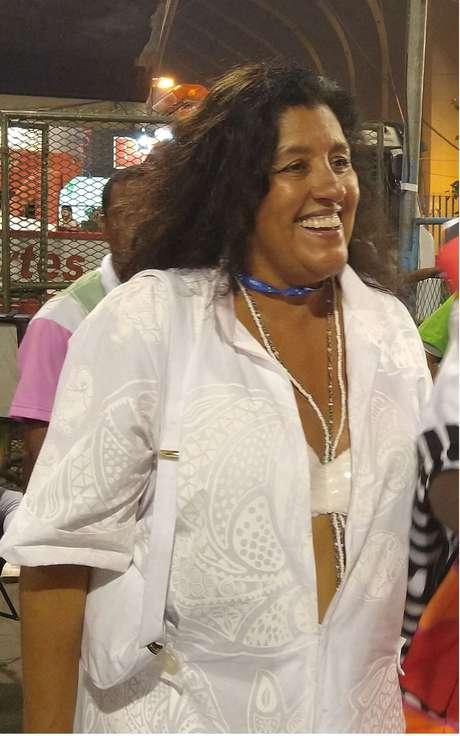 A atriz e apresentadora Regina Casé no Carnaval do Rio de Janeiro