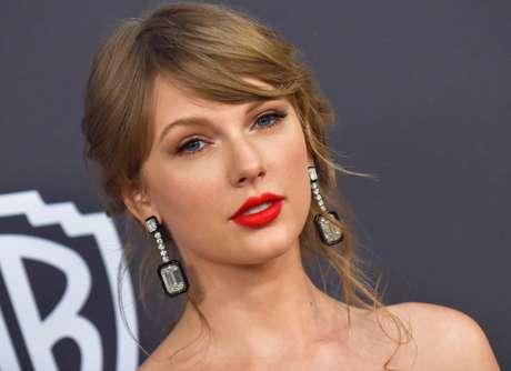 Taylor Swift na festa do Globo de Ouro deste ano