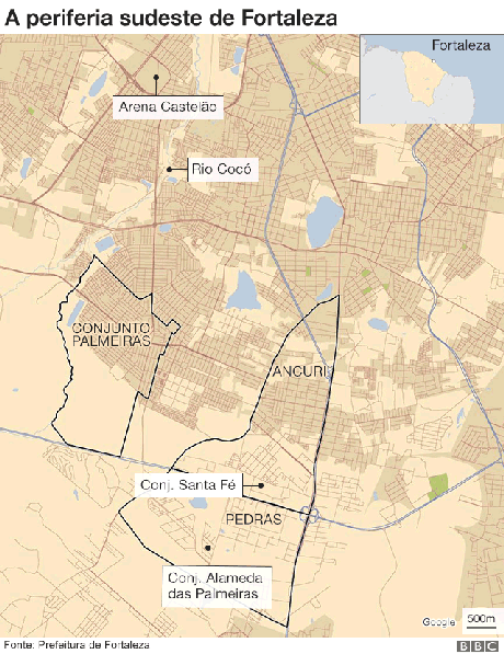 Mapa de Fortaleza
