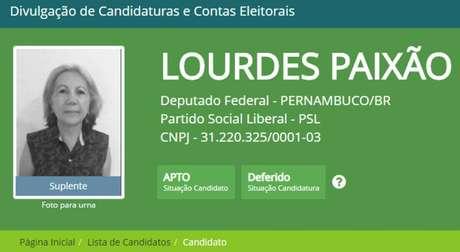 Maria de Lourdes Paixão teve apenas 247 votos na briga por uma vaga da Câmara dos Deputados
