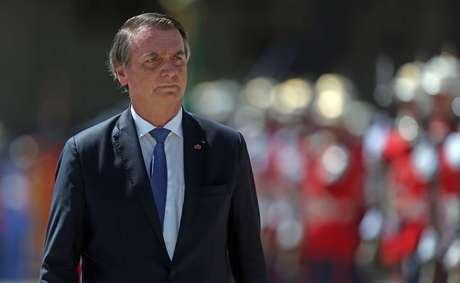 O presidente da República, Jair Bolsonaro (PSL), participa na manhã desta quinta-feira, 7 de março de 2019, da comemoração dos 211 anos do corpo de fuzileiros naval da Marinha brasileira, na Fortaleza de São José da Ilha das Cobras, no centro do Rio de Janeiro