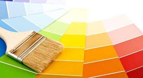 1- As cores de tintas para parede podem escolhidas usando paletas guias.