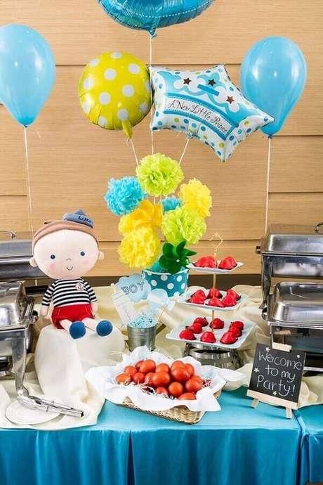 39. Não esqueça de usar balões para compor a decoração do seu mesversário simples – Foto: Neu dekoration stile