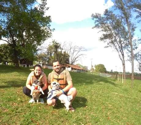 Pets na aventura - Mini rafting em Brotas