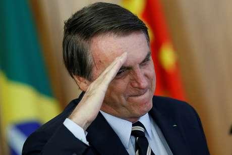Presidente Jair Bolsonaro durante cerimônia de posse no Palácio do Planalto. 8/3/2019. REUTERS/Adriano Machado