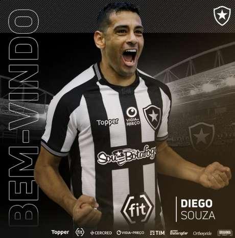 Diego Souza acertou com o Botafogo (Foto: Divulgação / Botafogo)