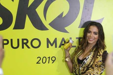 Anitta se apresentou em Salvador no camarote da Skol durante o Carnaval 2019