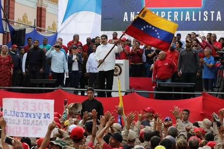 Presidente da Venezuela, Nicolás Maduro, durante manifestação neste sábado (09/03/2019)