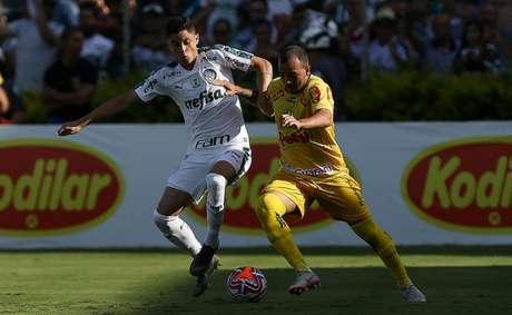Palmeiras teve um jogador a mais por quase todo o segundo tempo, mas não conseguiu a vitória (Cesar Greco)