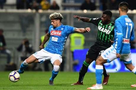 Napoli e Sassuolo ficaram no 1 a 1 neste domingo (AFP)