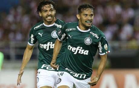 Palmeiras estreou na Libertadores vencendo o Junior Barranquilla por 2 a 0, na Colômbia (Divulgação/Palmeiras)