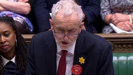 O Partido Trabalhista, liderado por Jeremy Corbin, quer a convocação de eleições gerais e um novo plebiscito sobre o Brexit