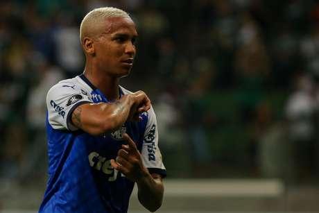 Deyverson comemora seu gol urante a partida entre Palmeiras x Melgar, realizada no Allianz Parque, válida pela 2ª rodada do Grupo F da Copa Libertadores 2019.