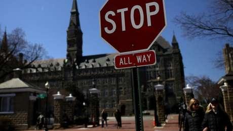 A universidade Georgetown é uma das entidades que recebeu beneficiários do esquema, mas autoridades dizem que faculdades não participaram da fraude