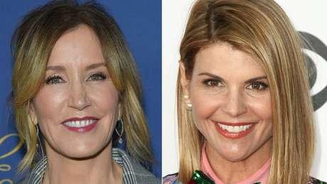 As atrizes Huffman e Loughlin estão entre os 33 pais acusados de fraudar o sistema profissional