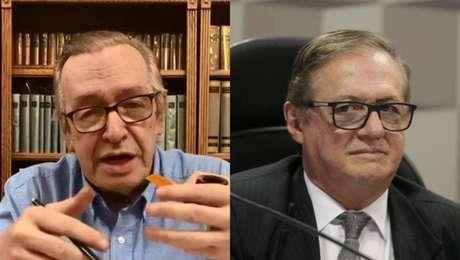 O filósofo Olavo de Carvalho e o ministro da Educação, Ricardo Vélez Rodríguez