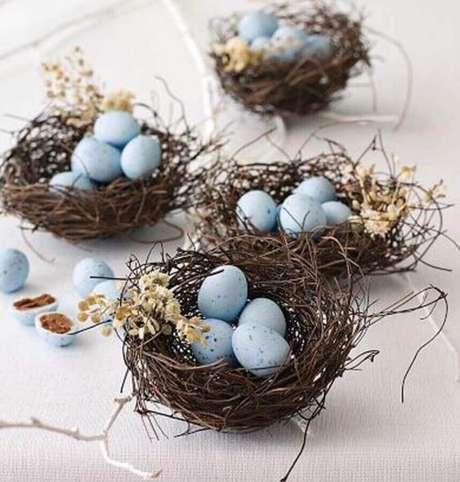 24. A cesta de páscoa também pode ser usada na decoração – Foto: Yandex