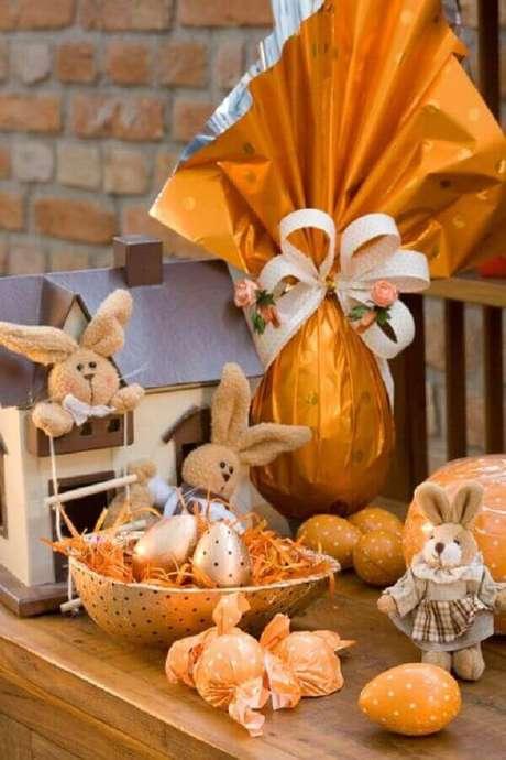 16. Além dos ovos de chocolate, também utilize coelhos para a decoração de Páscoa – Foto: Pinterest