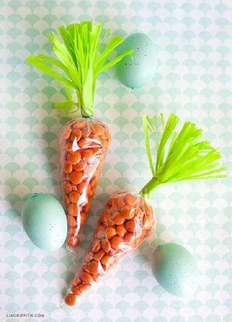 54. Lembrancinhas de páscoa em formato de cenourinha são lindas e todo mundo adora – Foto: Agesci Marche