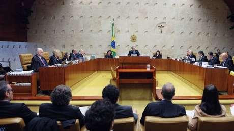 Plenário do STF na tarde desta quinta-feira (14): foram 6 votos a 5, e o desempate foi de Dias Toffoli