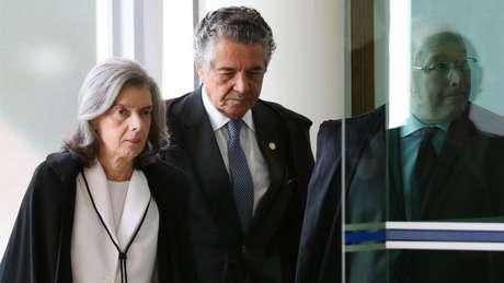 Procuradores do STF estão preocupados com possível resultado no STF. Na foto, os ministros Cármen Lúcia, Marco Aurélio e Celso de Mello (da esq. para a dir.).