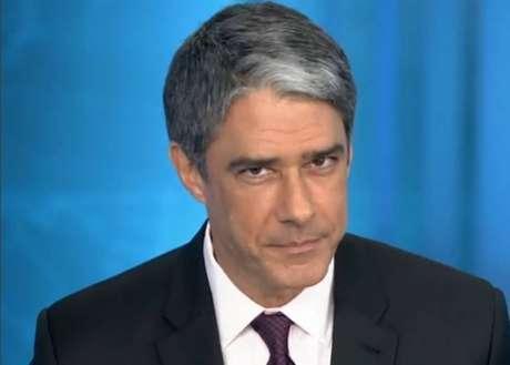 O jornalista William Bonner, apresentador doJornal Nacional, da TV Globo.