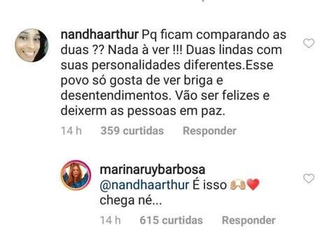 Marina Ruy Barbosa responde fã na web sore comparações a Bruna Marquezine
