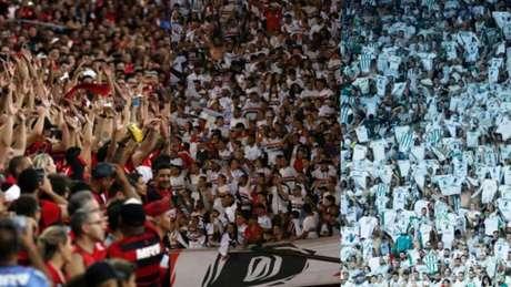 Jogos com Flamengo, São Paulo e Palmeiras são os mais caros (Foto: Montagem/Flamengo/São Paulo/Ofotografico)