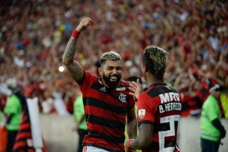 Gabigol na vitória do Flamengo sobre a LDU (Foto: Alexandre Vidal / Flamengo)