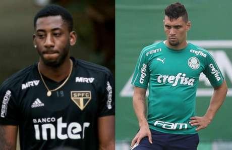 Gonzalo Carneiro e Moisés estão à disposição (Fotos de Maurício Rummens/Fotoarena e Agência Palmeiras)