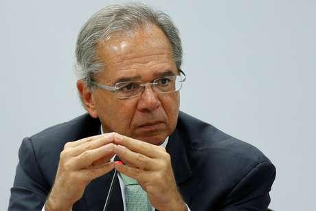 O ministro da Economia, Paulo Guedes, durante reunião com governadores em Brasília