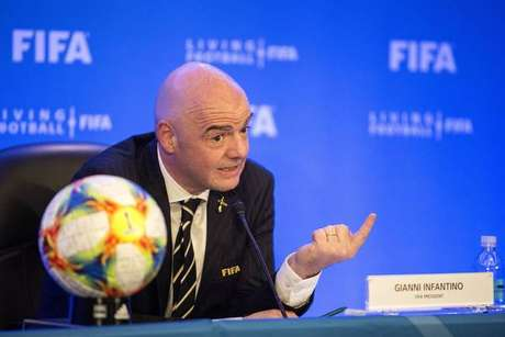 O presidente da Fifa, Gianni Infantino, apresenta o novo Mundial de Clubes