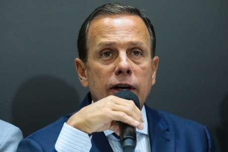 O governador de São Paulo João Doria, durante reunião com os prefeitos do Grande ABC e prefeito de São Paulo, Bruno Covas, para discutir medidas preventivas e de atendimento a população vítima das chuvas e inundações