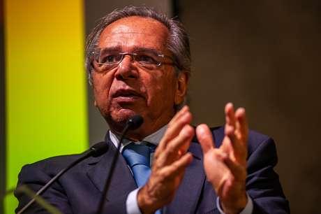 """O Ministro da Economia, Paulo Guedes, participa do seminário """"A Nova Economia Liberal"""", no Centro Cultural FGV, em Botafogo"""