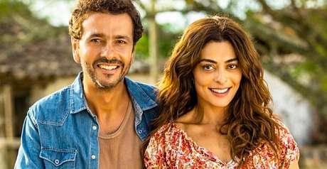 Amadeu (Marcos Palmeira) e Maria da Paz (Juliana Paes), protagonistas de A Dona do Pedaço, próximo novelão das 21h na Globo