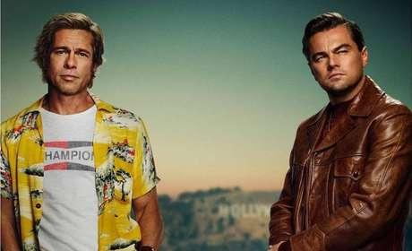 Leonardo DiCaprio e Brad Pitt no primeiro pôster de 'Once Upon a Time in Hollywood'.