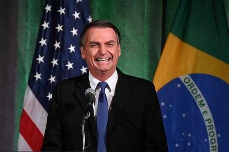 Presidente Jair Bolsonaro participa de evento com empresários em Washington 18/03/2019 REUTERS/Erin Scott