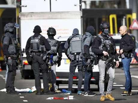 Polícia atende a ocorrência após tiroteio em Utrecht