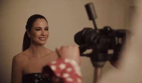 Luciana durante o ensaio fotográfico para a Top Magazine