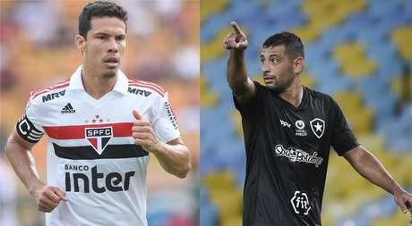 Hernanes, do São Paulo, e Diego Souza, do Botafogo