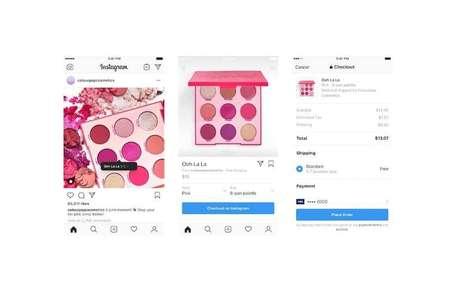 A compra direto pelo app do Instagram funcionará como uma loja virtual normal, com opções de tamanho e cores
