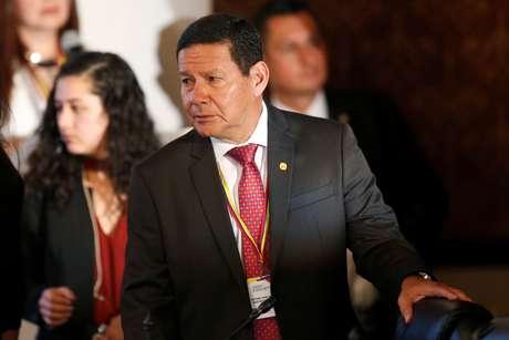 Vice-presidente Hamilton Mourão em Bogotá 25/02/2019 REUTERS/Luisa Gonzalez