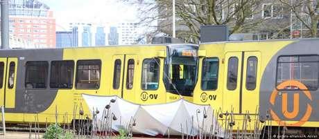 Local do atentado ocorrido em Utrecht, na Holanda