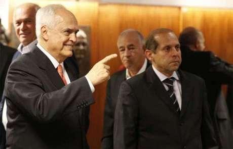 Leco e Roberto Natel estão rompidos desde o começo do atual mandato, em 2017 (Rubens Chiri/saopaulofc.net)