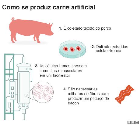 como se produz carne artificial