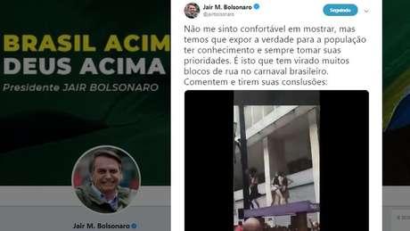 Tuíte de Bolsonaro já foi compartilhado 13,4 mil vezes e recebeu 87 mil curtidas desde sua publicação
