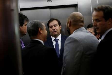 Presidente da Câmara dos Deputados, Rodrigo Maia, antes de reunião no Congresso Nacional 20/03/2019 REUTERS/Adriano Machado